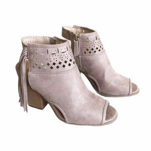 Not Rated Chiara Open Toe Boho Ankle Booties Sz 8